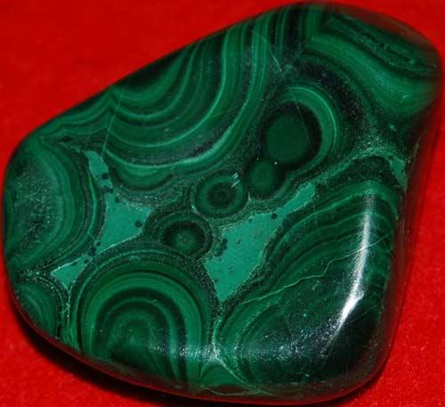 Malachite Palm Stone #14