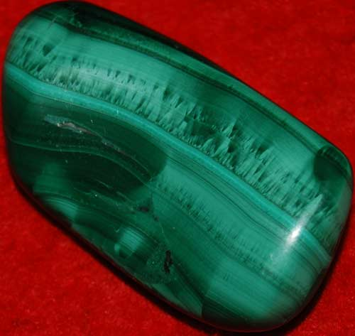 Malachite Palm Stone #2