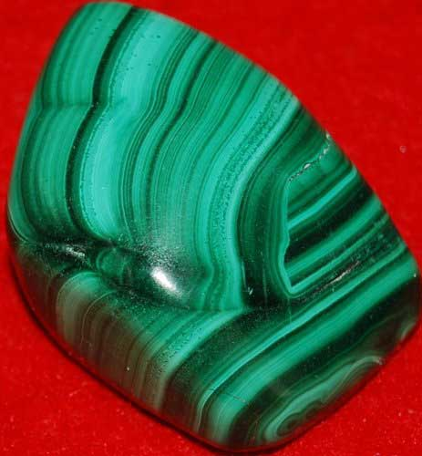Malachite Palm Stone #33