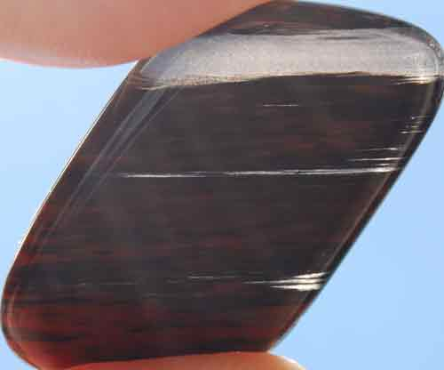 Mahogany Obsidian Flat Stone #1