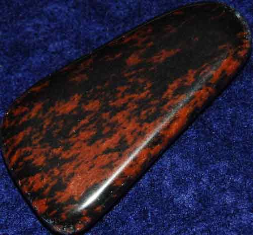 Mahogany Obsidian Flat Stone #7