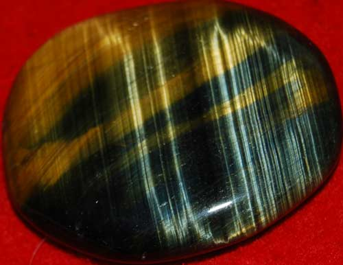 Multi-Tiger Eye Palm Stone #1