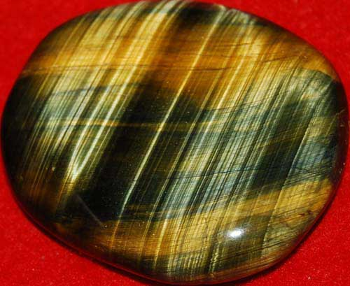 Multi-Tiger Eye Palm Stone #28