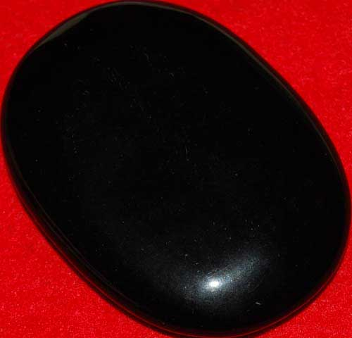 Black Obsidian Soap-Shaped Palm Stone #10