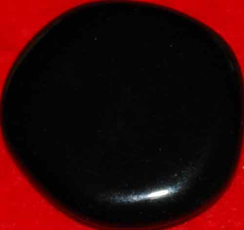 Black Obsidian Palm Stone #18