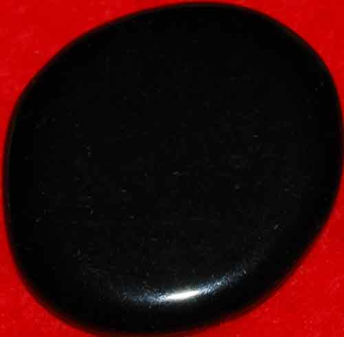 Black Obsidian Palm Stone #24