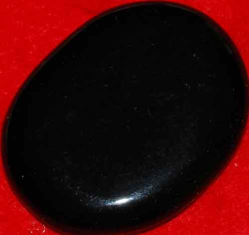 Black Obsidian Palm Stone #8
