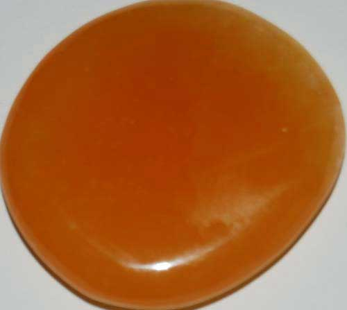 Orange Calcite Palm Stone #3