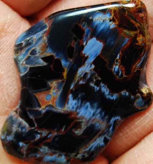 Pietersite Palm Stone #25