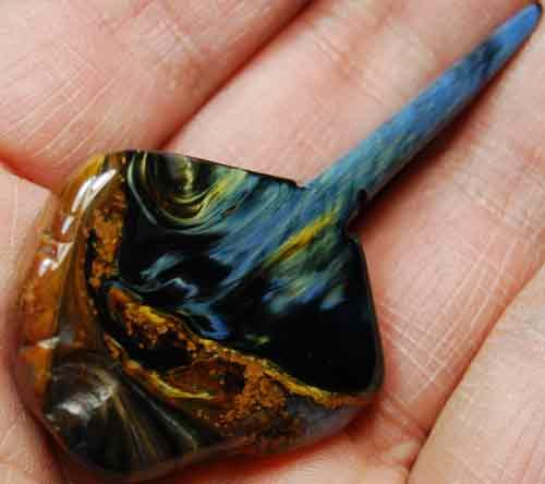 Pietersite Palm Stone #26