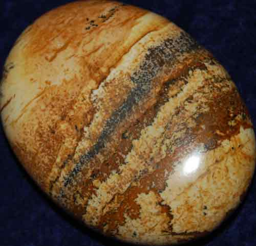 Picture Jasper Soap-Shaped Palm Stone