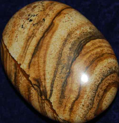 Picture Jasper Soap-Shaped Palm Stone #11