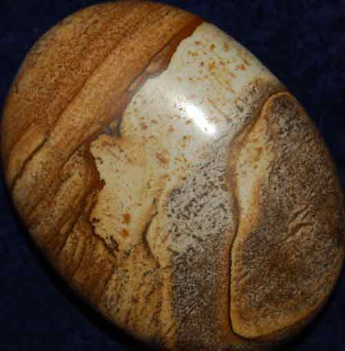 Picture Jasper Soap-Shaped Palm Stone #7