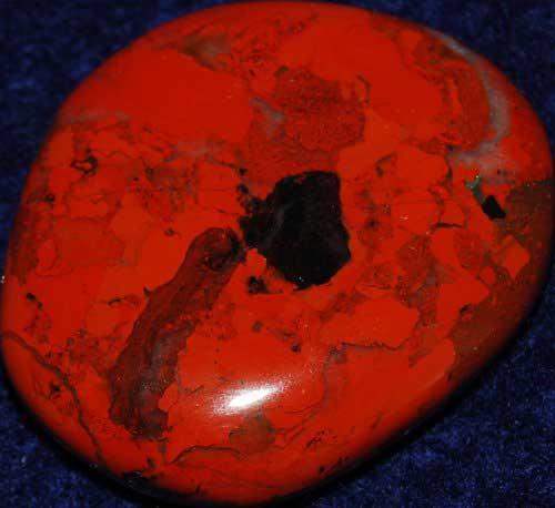 Poppy Jasper Palm Stone #29
