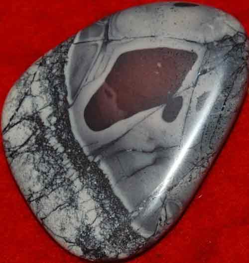 Porcelain Jasperl Palm Stone #4
