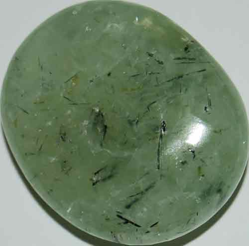 Prehnite with Epidote Palm Stone #2