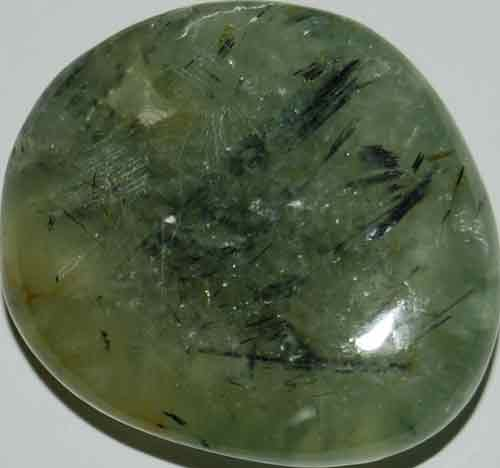 Prehnite with Epidote Palm Stone #8