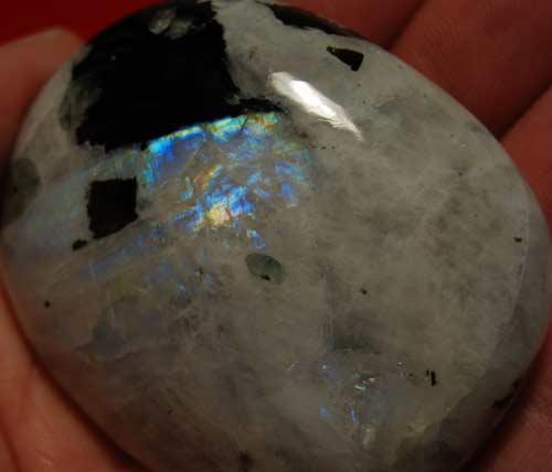 Rainbow Moonstone Palm Stone #11