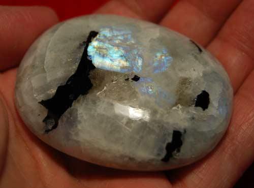 Rainbow Moonstone Palm Stone #12