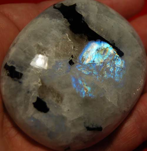 Rainbow Moonstone Palm Stone #12
