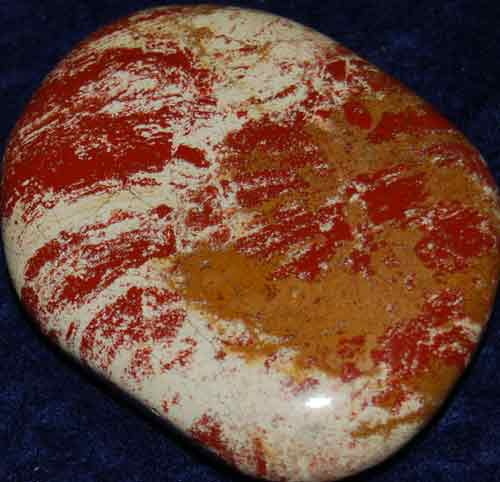 Red Striped Jasper Palm Stone #16