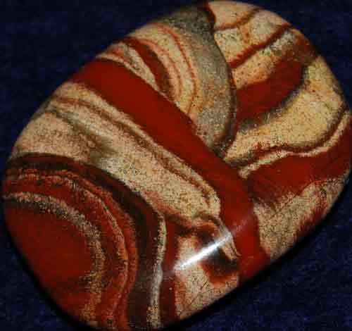 Red Striped Jasper Palm Stone #19