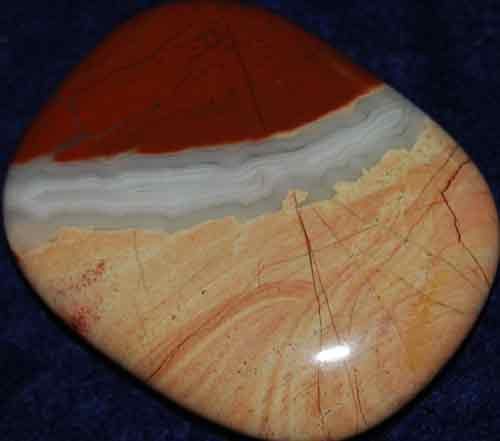 Red Striped Jasper Palm Stone #21