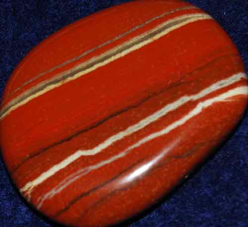 Red Striped Jasper Palm Stone #9