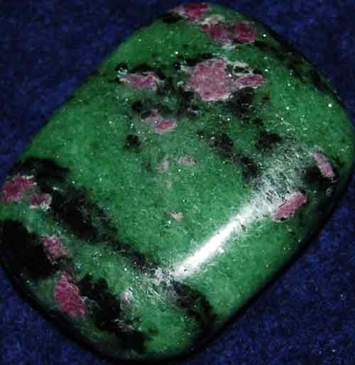 Anyolite (Ruby in Zoisite) Palm Stone #12