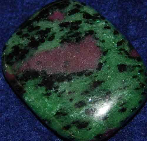 Anyolite (Ruby in Zoisite) Palm Stone #24