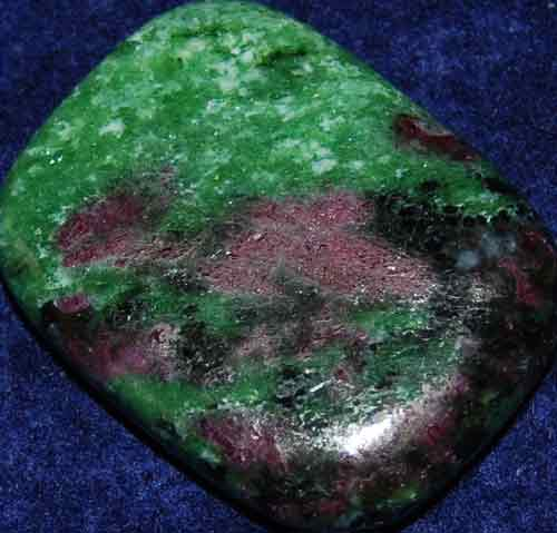Anyolite (Ruby in Zoisite) Palm Stone #25