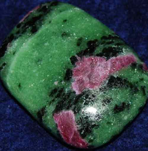 Anyolite (Ruby in Zoisite) Palm Stone #26