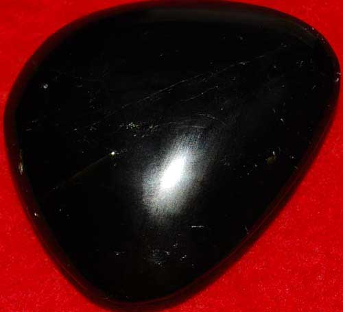 Schorl (Black Tourmaline) Palm Stone #5