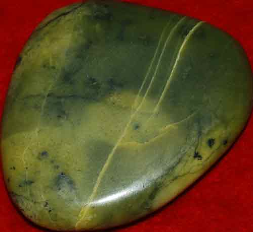 Serpentine Palm Stone #12