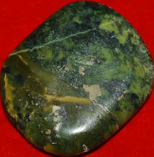Serpentine Palm Stone with Pyrite Inclusions #22
