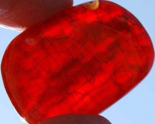 Snakeskin Agate Palm Stone #10