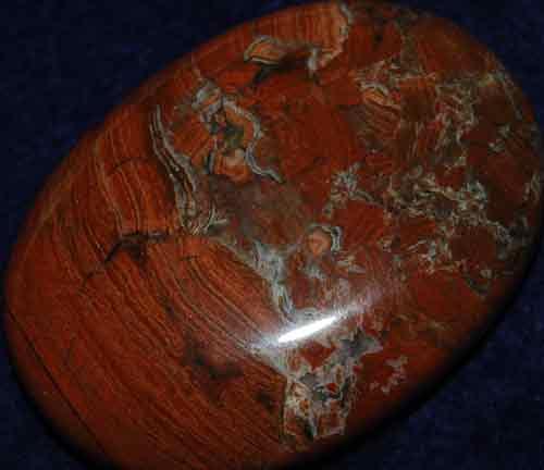 Silver Leaf Jasper Soap-Shaped Palm Stone #7