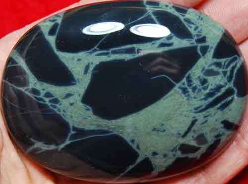 Spider Obsidian Soap-Shaped Palm Stone #8