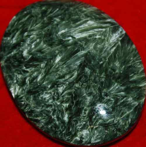 Seraphinite Soap-Shaped Palm Stone #13