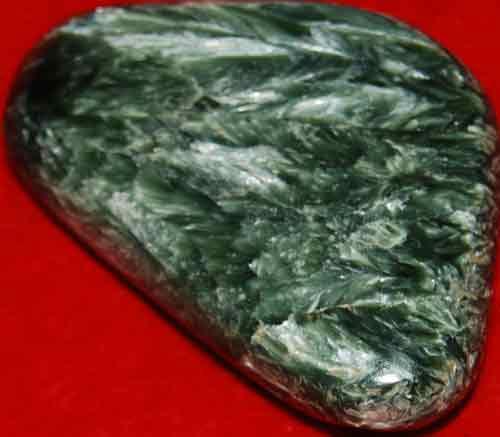 Seraphinite Palm Stone #7