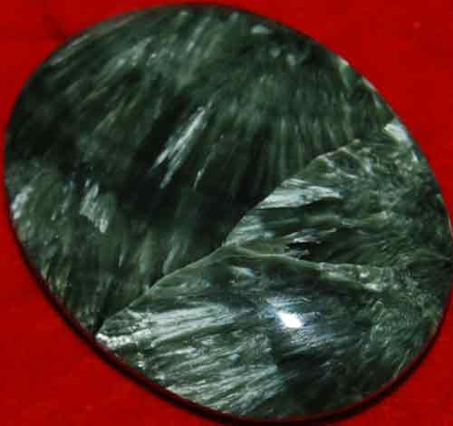 Seraphinite Soap-Shaped Palm Stone #9