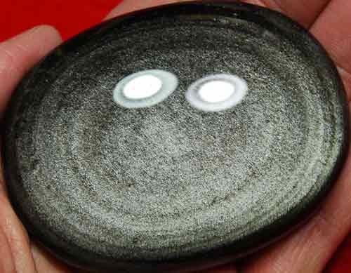 Silver Sheen Obsidian Soap-Shaped Palm Stone #2