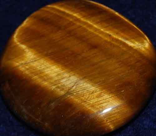 Tiger Eye Palm Stone #10
