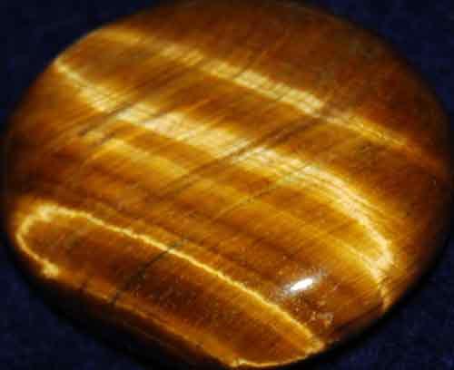 Tiger Eye Palm Stone #11