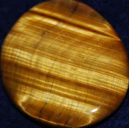 Tiger Eye Palm Stone #18