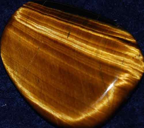 Tiger Eye Palm Stone #3