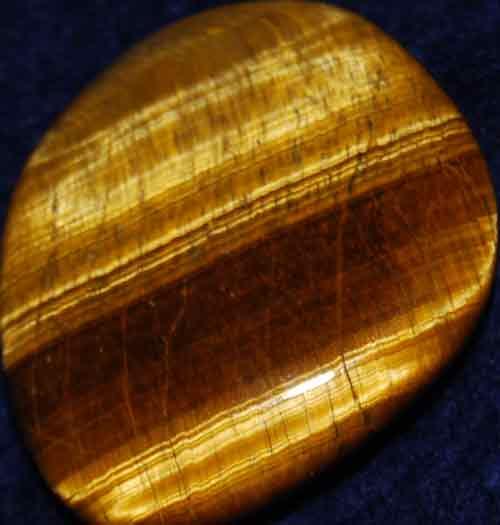 Tiger Eye Palm Stone #4
