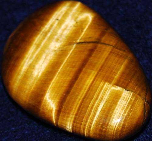 Tiger Eye Palm Stone #5