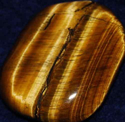 Tiger Eye Palm Stone #6