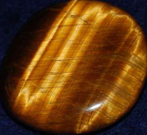 Tiger Eye Palm Stone #8
